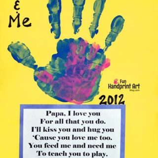 Daddy & Me Handprint Craft with Father's Day Poem