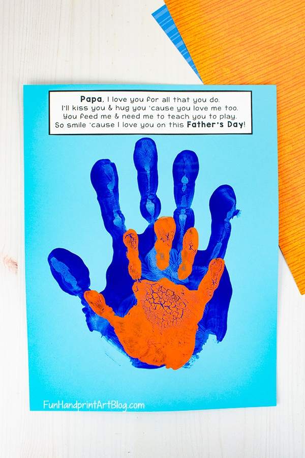 Dad and Son Handprint Art