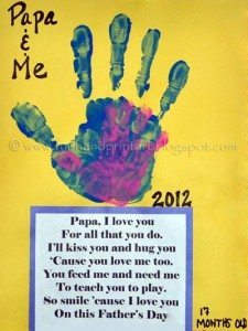 Papa & Me Handprints with poem