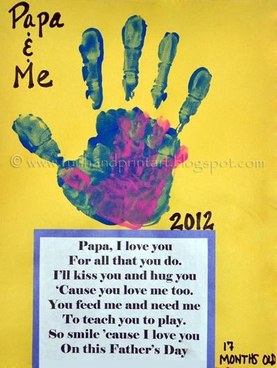 Daddy amp Me Handprint Craft For Fathers Day Fun