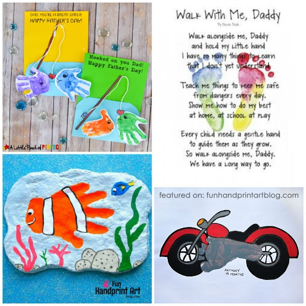 14 Last Minute Father S Day Handprint Crafts And Footprint Gifts For Dad