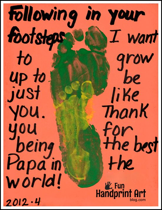Following in Father's Footsteps - Father's Day Footprint Craft