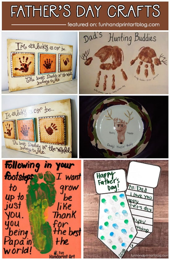 Father's Day Handprint Crafts & Footprint Gifts for Dads