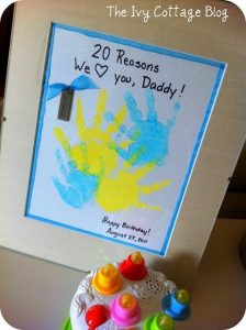 20 Reasons why we love you, Daddy! kid craft