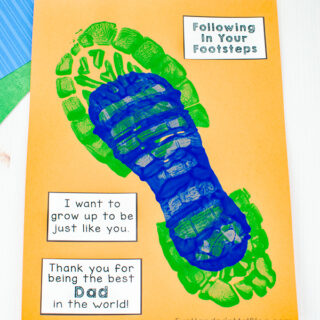 Grow to Be Just Like Dad Shoe Craft