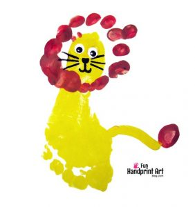 How to make a Lion King Footprint Craft