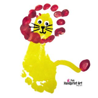 Footprint Lion King Craft