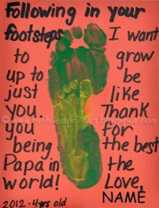Following in your footsteps Father's Day Card