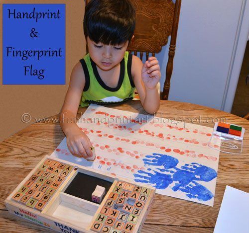 4th of July Handprint Craft - American Flag