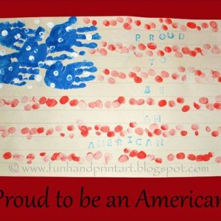 Handprint & Fingerprint American Flag craft for 4th of July