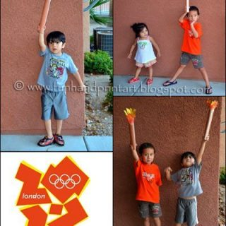 Olympic Craft for Kids – Handprint Torch