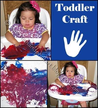 Toddler Open-Ended Fingerpainting Activity