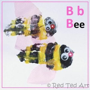 Handprint Letter B Bee Craft