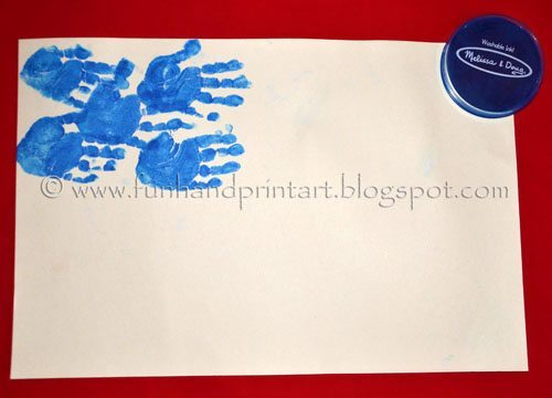 Handprint American Flag - Independence Day Craft