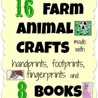 Farm Animal Crafts made with handprints, footprints, & thumbprints + 8 Books!
