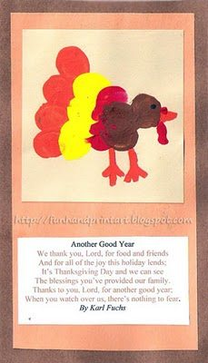 Thumbprint Turkey Cards