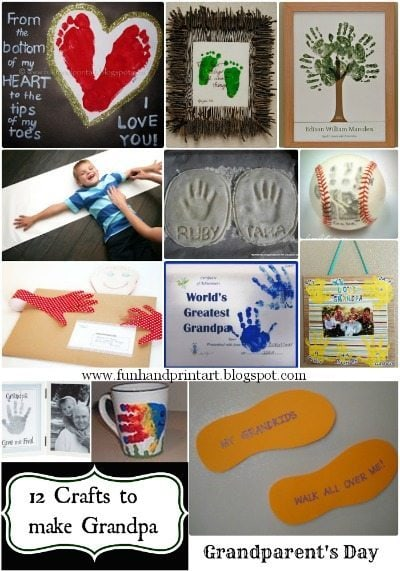Handprint Crafts to Make for Grandparent's Day