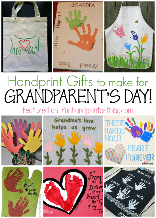 12 Handprint Ideas to make Grandma for Grandparent's Day