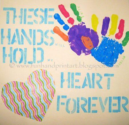 12 Handprint Ideas to make Grandma for Grandparent's Day