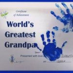World's Greatest Grandpa Certificate | Handprint Craft for Grandparent's Day