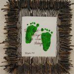 Framed Footprint Keepsake with Poem