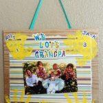 We Love Grandpa Photo Wall Hanging Craft