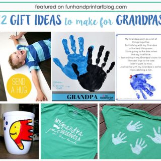 12 Sweet Gifts to Make for Grandpas using handprints and footprints