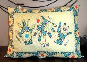 Handprint Pillow Keepsake