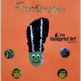 Bride of Frankenstein Footprint Craft for Kids | Halloween