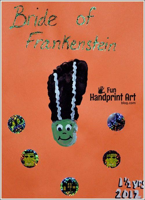 Bride of Frankenstein Footprint Craft