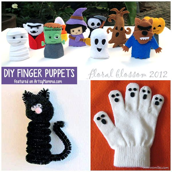 Fun DIY Halloween Finger Puppets that make a fun, not-so-scary Halloween craft idea for younger kids