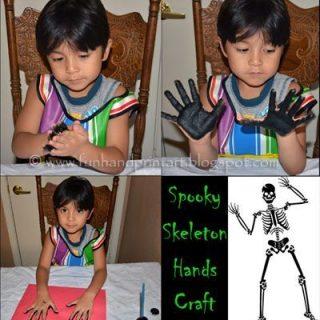 Glow-in-the-Dark Skeleton Handprints