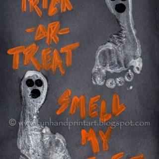 Boo'tiful Glow-in-the-Dark Footprint Ghost crafts for Halloween