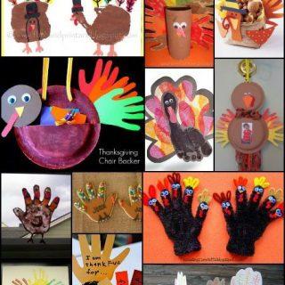 Popular Handprint Turkey Craft Ideas to make for Thanksgiving