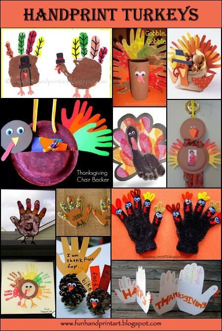 Thanksgiving Crafts: Handprint & Footprint Turkey Round Up