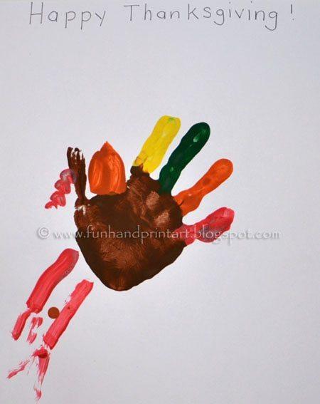 Preschool Handprint Turkey Craft