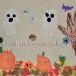 Handprint Halloween Scene