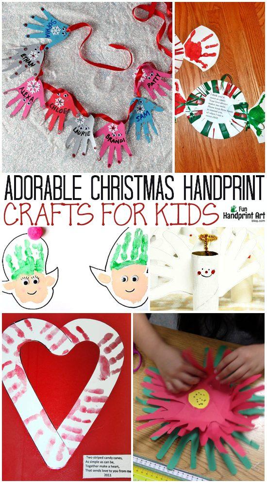 10 Adorable Handprint Christmas Crafts For Kids Fun