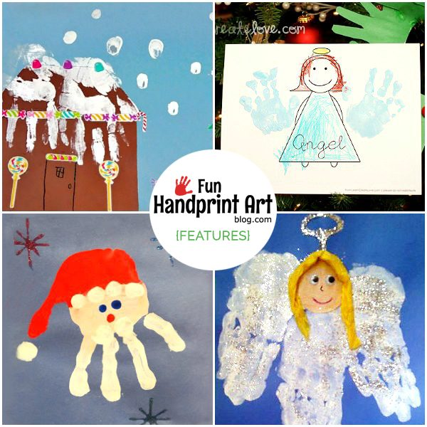 Handprint Christmas Craft Ideas Part - 19: Adorable Christmas Handprint Crafts