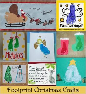 Christmas Footprint Art - 12 Days of Christmas Pinspiration
