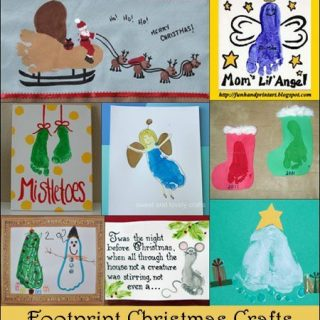 Festive Footprint Christmas Crafts for Kids
