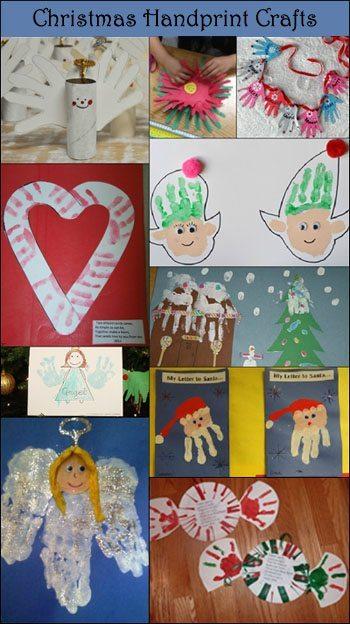 10 handprint christmas crafts for kids fun handprint art for Christmas arts and crafts for kids