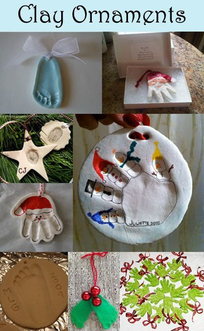 Clay Handprint Keepsakes - Christmas Ornament Crafts