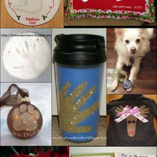 Handprint and Footprint Christmas Keepsakes