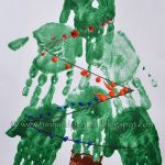 Handprint Christmas Tree Preschool Craft