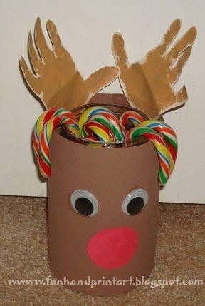 Handprint-Reindeer-Treat-Container