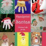 Kids Handprint Santa Crafts {Round Up}