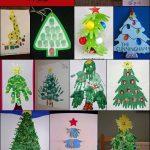 Handprint, Footprint, and Fingerprint Christmas Tree Crafts