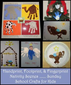 Handprint Nativity, Footprint Baby Jesus Craft,