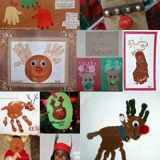 Handprint Reindeer Craft - Kids Christmas Activity